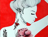 Tattooed Female Illustration 1