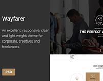 PSD Template - Wayfarer | Multi-Purpose Parallax