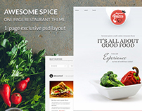 PSD Template - Awesome Spice-One Page Restaurant Theme