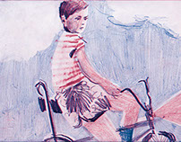 Child riding a bike in 1992