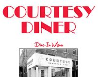 The Courtesy Diner - Menu Re-design