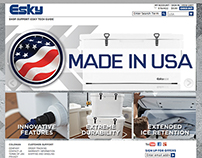 Esky™ Coolers - Website Layout and Banner Design