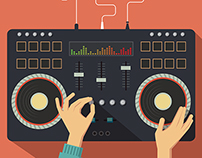 Dj controller. Vector illustration