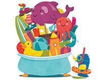 """""""Bento's Bath Time"""" Children's Book Dummy"""