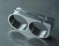 Titanium Two Finger Ring