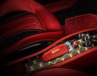 Exclusive interior tuning of Ferrari Italia