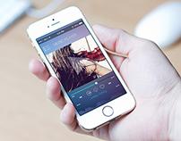 Music player app screen