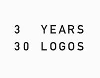 3 Years / 30 Logos