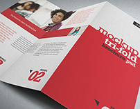 NT Photorealistic Mockup Trifold Brochure Z Style