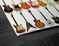 Guitar Legends, Collage - Wall Art Poster
