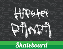 Hipster Panda: Skateboard and Stickers