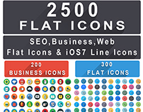 2500+ Flat Icons Bundle : Web Seo Business Finance Icon