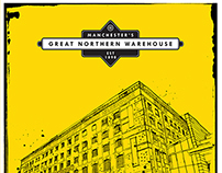 Manchester's Great Northern Warehouse, rebrand artwork