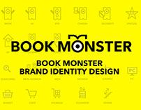 BOOK MONSTER Brand Identity Design 2014
