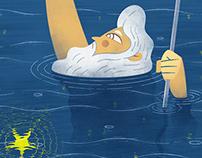 Poseidon Reaching A Star