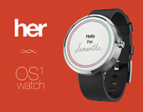 HER OS1 iWatch concept