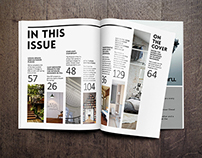 Magazine Cover & Table of Contents