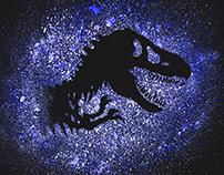 Jurassic Park Ink Splatter / T-Shirt