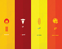 Minimalist Posters - theme food
