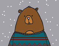 Animals in Knits festive greeting cards