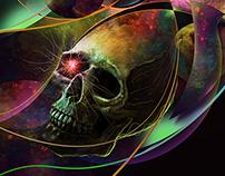 Vivid Skulls of Life