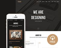 Trendy - Creative One Page PSD Template