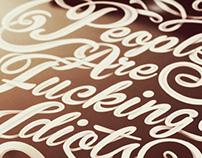 Typography work