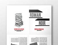 Roman noir (thriller) : brochure + book covers
