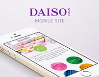 Daiso Australia - Mobile Site Design