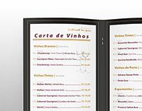 carta de vinhos Hotel OT
