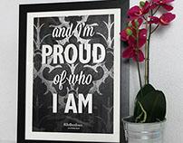 Rhombus Silkscreen Poster - Sophie Lancaster Foundation