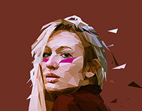 low-poly Portraits