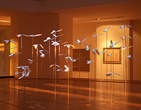 """""""Pigeons"""" video projection - installation"""
