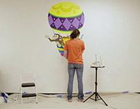 "Ikaros Art ""Hot Air Balloon Mural"" Time-Lapse Video"
