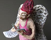 Paper Mache Sculpture Angel 3.0