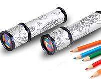 Картинки-раскраски для детского калейдоскопа