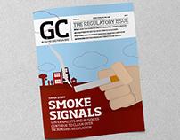 Magazine, cigarettes and law