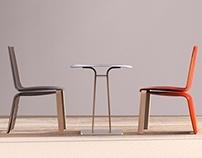 Piuma - Café Chair & Table Concept