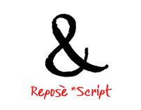 Reposè Script. Custom font