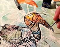 Water Painted Swarm