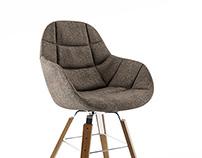 Free 3d model: EVA 2266/R Chair by Zanotta