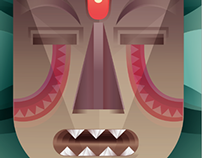 Jungle Massive Mask - Illustration