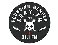XRAY.FM Branding and Badge Design