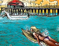 Pacific Dub Summer Singles Album Art Progression