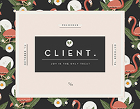 KJOSK: CLIENT - JOY IS THE ONLY TREAT LP