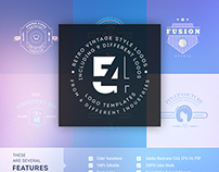 54 Vintage/Retro Style Logo Templates - MarvelBundle
