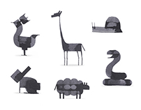 Even More Calligraphy Animals