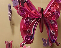 Quilled Butterfly mobile