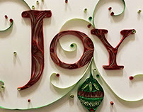 Quilled Holiday Words
