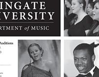 Wingate University Music Department Advertisement